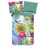 Wendebettwäsche Iride 140/200cm Multicolor - Multicolor/Grün, MODERN, Textil