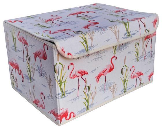 Aufbewahrungsbox Feline Größe S - Pink/Beige, MODERN, Karton/Textil (31/15/20cm)