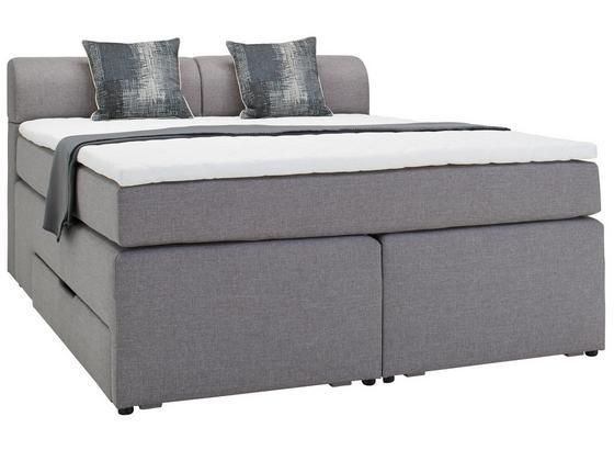 Postel Boxspring Flexi - šedá/antracitová, Moderní, kompozitní dřevo/textilie (160/200cm) - Modern Living