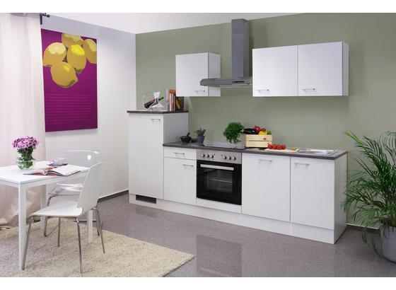 Küchenblock Lucca 280cm Weiß - Weiß, KONVENTIONELL, Holzwerkstoff (280/60cm)