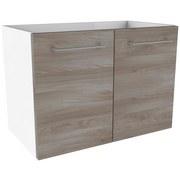 Waschtischunterschrank Lima B:60cm Weiß/Esche Dekor - Eschefarben/Weiß, MODERN, Holzwerkstoff (60/42/35cm) - Fackelmann