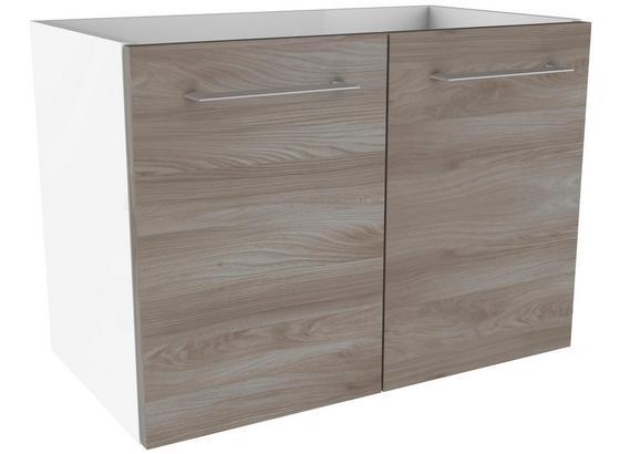 Waschtischunterschrank mit Türdämpfer Lima B: 59cm - Eschefarben/Weiß, MODERN, Holzwerkstoff (59/42/33cm) - Fackelmann
