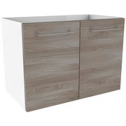 Waschtischunterschrank mit Türdämpfer Lima B: 60cm - Eschefarben/Weiß, MODERN, Holzwerkstoff (60/42/35cm) - Fackelmann