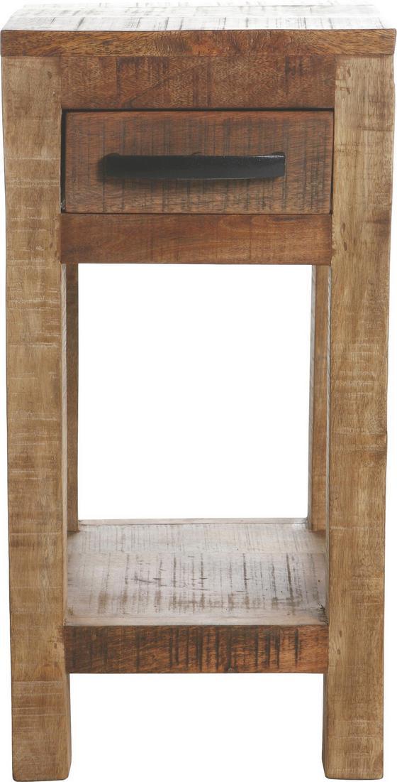 Odkládací Stolek Industry - přírodní barvy, dřevo (30/60/32cm)