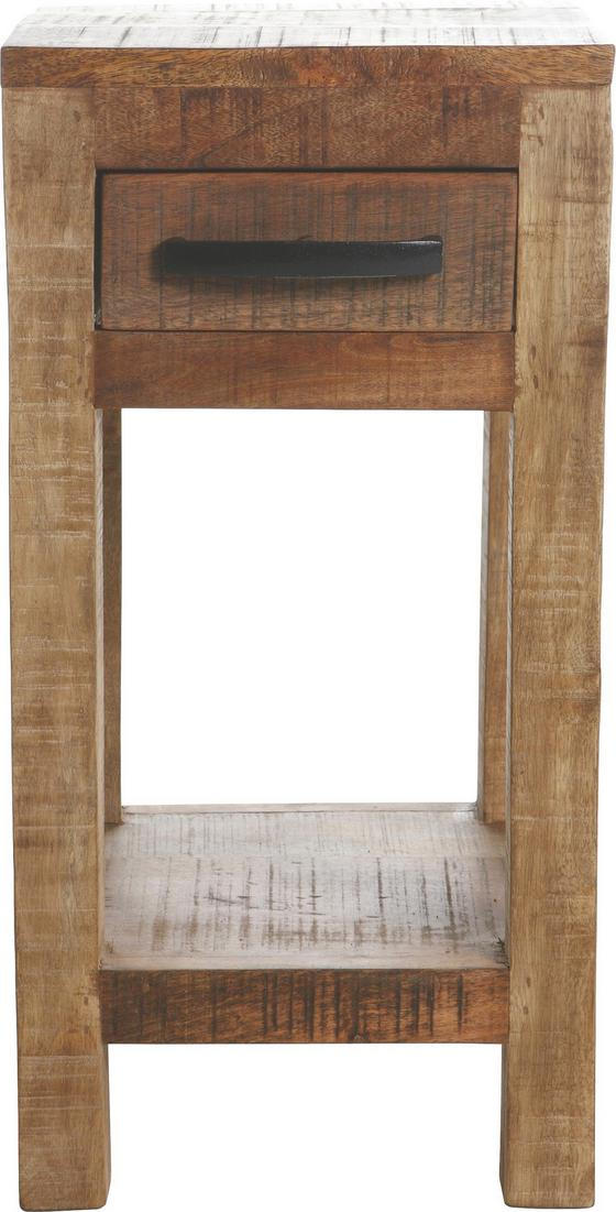 ODKLADACÍ STOLÍK INDUSTRY - prírodné farby, Štýlový, drevo (30/60/32cm) - James Wood