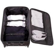 Reisekofferset Paris - Schwarz, Kunststoff/Textil - LUCA BESSONI