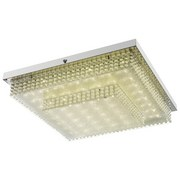 LED-Deckenleuchte Verona - Chromfarben/Transparent, MODERN, Glas/Kunststoff (35/35/9cm) - Luca Bessoni