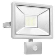 LED-Sicherheitsleuchte mit Bewegungsmelder H: 22,5 cm - Silberfarben, MODERN, Metall (10,5/22,5/19,5cm)