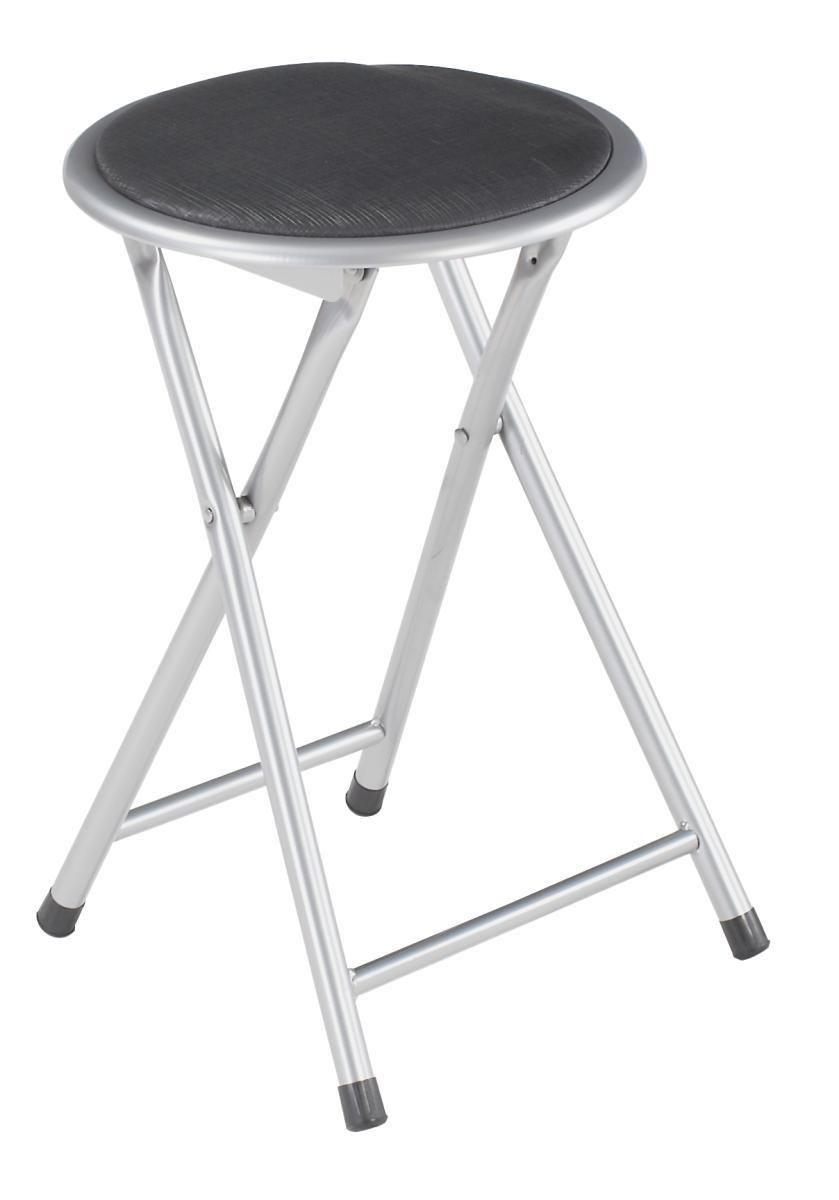 Összecsukható Ülőke Ouzo - fekete/kék, modern, műanyag/fém (30/45/30cm)