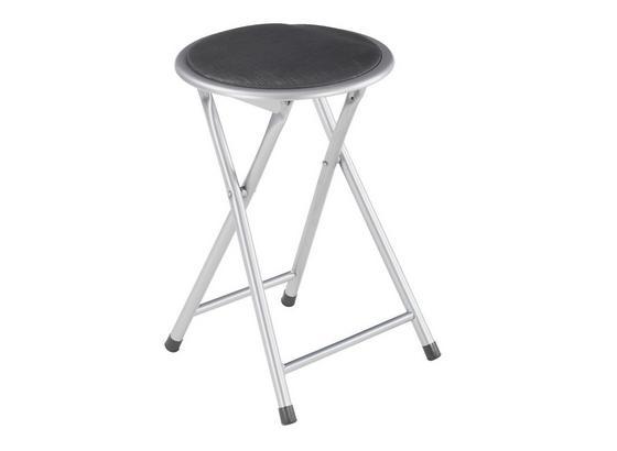 Összecsukható Ülőke Ouzo - Kék/Fekete, modern, Műanyag/Fém (30/45/30cm)