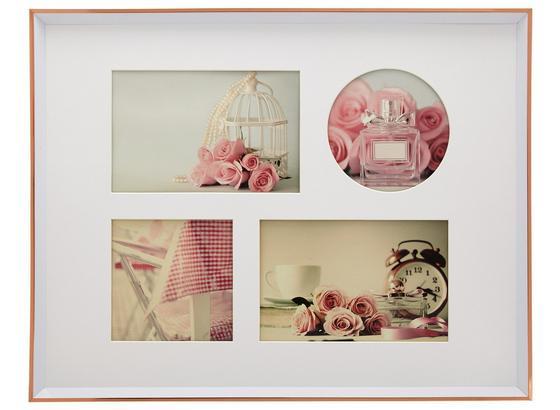 Rám Na Obrazy Mara - růžová, umělá hmota (36,9/28,9/1,8cm) - Modern Living