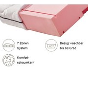 Komfortschaummatratze Comfort 140x200cm H2 - Weiß, MODERN, Textil (140/200cm) - Primatex