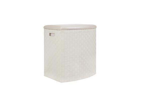 Wäschetonne Ghada, Weiß, Gr. L - Weiß, KONVENTIONELL, Textil (49,5/37/56cm) - Luca Bessoni