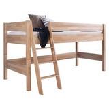 mittelhohes Bett Kim 90x200 Buche Massiv - Buchefarben, Design, Holz (90/200cm)