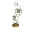 Kerzenhalter Tommy - Klar/Goldfarben, MODERN, Glas/Metall (15,5/37/12,5cm) - Luca Bessoni