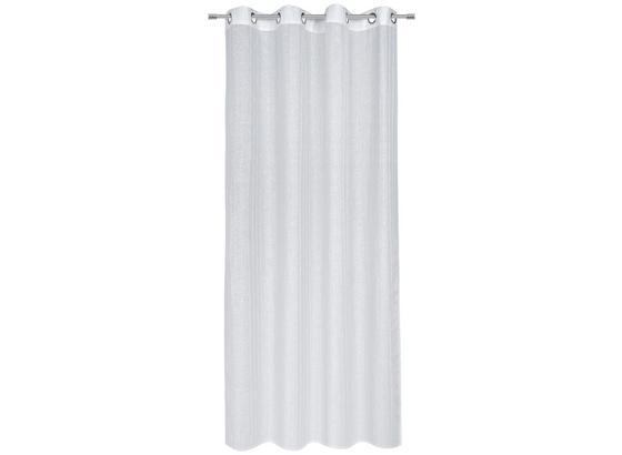 Záves S Krúžkami Lucia - biela, textil (140/245cm) - Modern Living