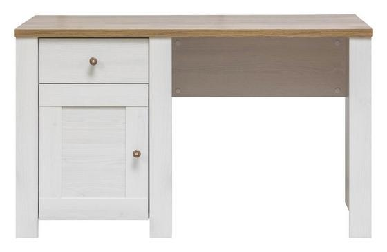 Písací Stôl Noto - biela, Štýlový, drevo (129/76/67cm)