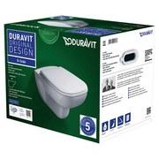 Duravit Hänge WC-Set D-Code - Weiß, Basics, Keramik/Kunststoff (35,5/40/54,5cm) - Duravit