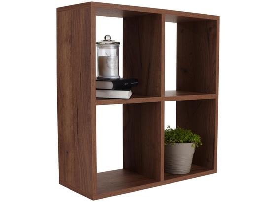 Regál Nástěnný Alex *cenový Trhák* - barvy dubu, Moderní, dřevo (60/60/18cm)