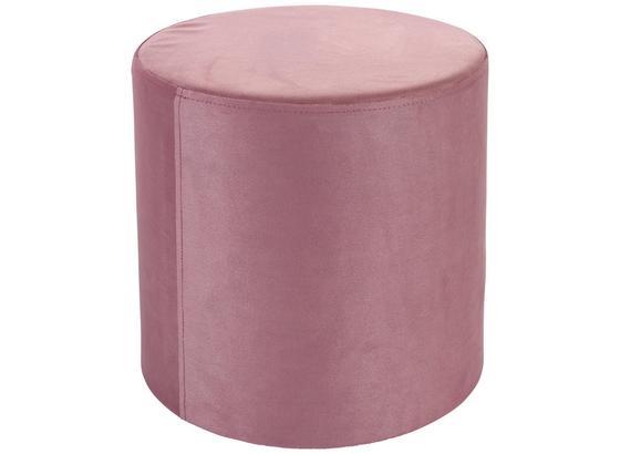 Taburet Silvia - růžová, Moderní, textil (33/35cm)