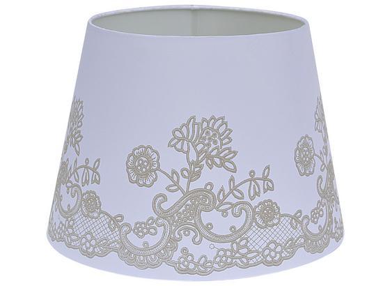 Tienidlo Na Svetlo Camilla 16,5-20/15,6cm - biela, Romantický / Vidiecky, kov/textil (16,5-20/15,6cm) - Mömax modern living