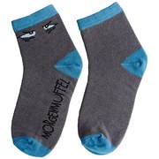 Socken Morgen - Blau/Dunkelgrau, Textil (41-46null)