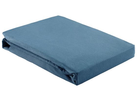 Napínacie Prestieradlo Basic - tmavomodrá, textil (150/200cm) - Mömax modern living