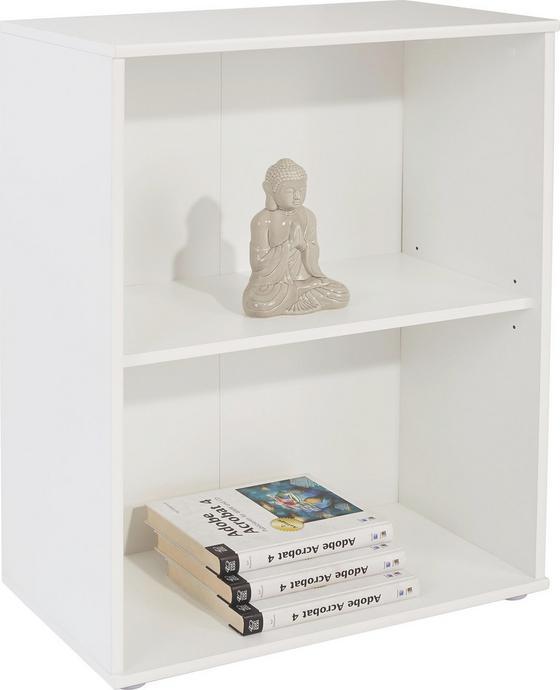 Regál Josef 4 - biela, Moderný, kompozitné drevo (60/80/30cm)