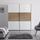 Schwebetürenschrank 188 cm Includo, Weiß - Eichefarben/Weiß, MODERN, Glas/Holzwerkstoff (188/222/68cm)