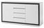 Sideboard Durban - Weiß/Grau, MODERN, Holzwerkstoff (160/84/40cm)