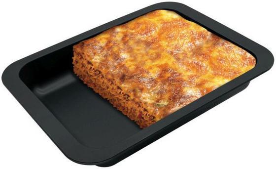 Sütő Forma Lasagne-hoz - Fekete, konvencionális, Fém (32,5/5/25cm)