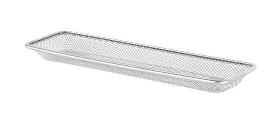 Stiftehalter Mesh - Silberfarben, Metall (31/9,5/3cm)