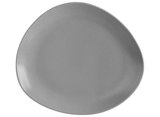 Plytký Tanier Nele - sivá, Moderný, keramika (29,5/26/3cm) - Premium Living
