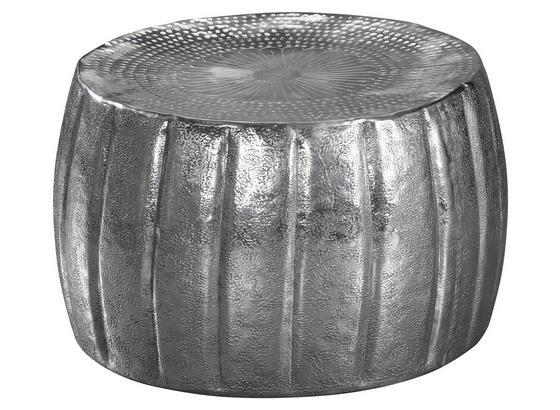 Couchtisch Jamal D: ca. 60 cm - Silberfarben, LIFESTYLE, Metall (60/60/36cm) - Livetastic