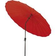 Sonnenschirm Shanghai II 270 - Rot/Grau, MODERN, Textil/Metall (270/255cm)