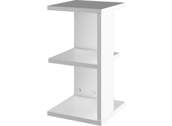 Nočný Stolík Box V1 - biela, Moderný, kompozitné drevo (32/59/32cm)