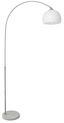 Stehleuchte Curve - Weiß, KONVENTIONELL, Kunststoff/Stein (100/200cm)