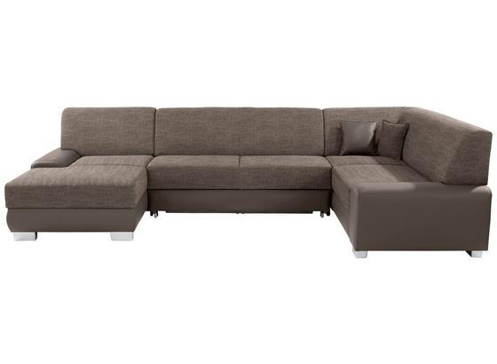 Sedacia Súprava Miami - svetlohnedá/bahenná hnedá, Moderný, kov/drevo (160/320/210cm)