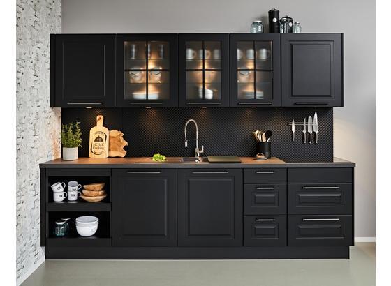 Vstavaná Kuchyňa Springfield - čierna (125/290cm)