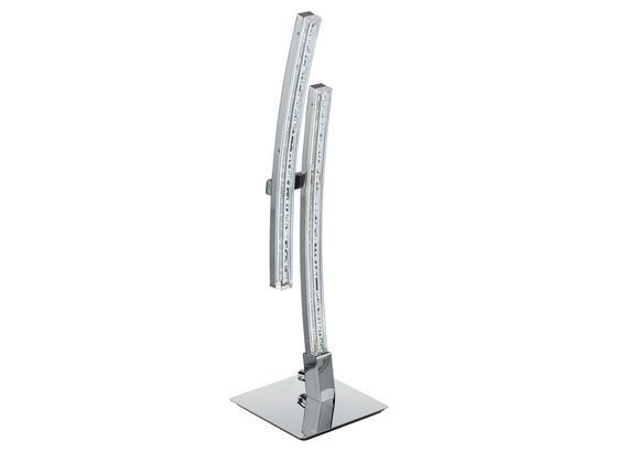 LED-Tischleuchte Pertini - Chromfarben/Transparent, MODERN, Kunststoff/Metall (6/7,5/33cm)
