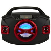 Radio Boombox mit Bluetooth - Rot/Schwarz, Basics, Kunststoff (41,5/31,4/17,7cm) - Silva Schneider