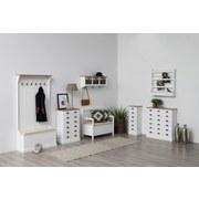Garderobe Aster B: 95 cm Weiß - Braun/Weiß, LIFESTYLE, Holz (95/180/35cm) - MID.YOU