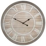 Wanduhr Woodline - Braun/Weiß, Holz (80cm)