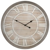 Wanduhr Woodline DM: 80cm - Braun/Weiß, Holz (80cm)