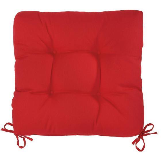 Sedák Elli-hit- - červená, textil (40/40/7cm) - MÖMAX modern living