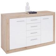 Sideboard Malta - Eichefarben/Schwarz, MODERN, Holzwerkstoff (138/86/35cm)