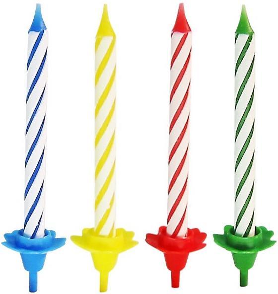 Születésnapi Gyertya Fackelmann - sárga/piros, konvencionális (34cm)