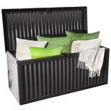 Kissenbox Lara - Anthrazit, KONVENTIONELL, Kunststoff (120/52/54cm) - OMBRA