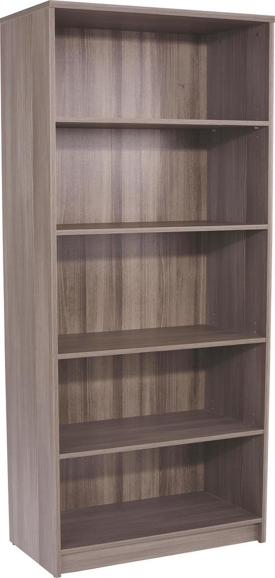 Regál 4-you Yur03 - tmavohnedá, Moderný, drevený materiál (74/189,5/34,6cm)