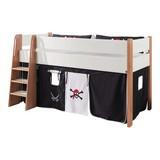 Spielvorhang 3-teilig Schwarz/ Weiß - Schwarz/Weiß, Design, Textil